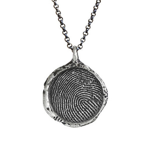 Personalized Fingerprint necklace 16mm